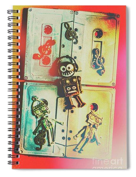 Pop Art Music Robot Spiral Notebook