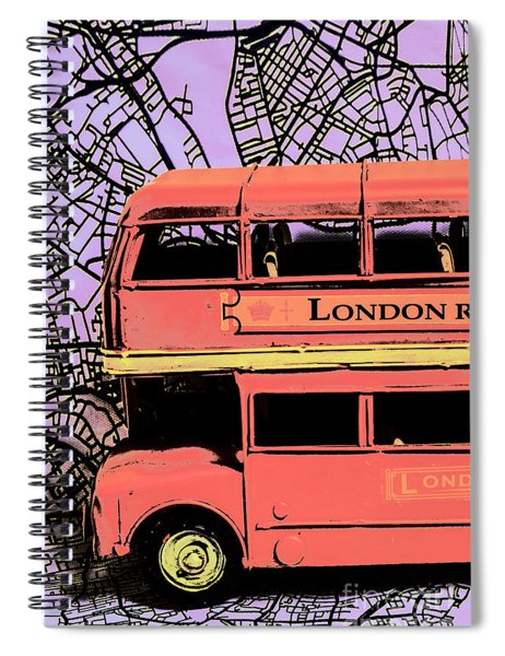 Pop Art Uk Spiral Notebook