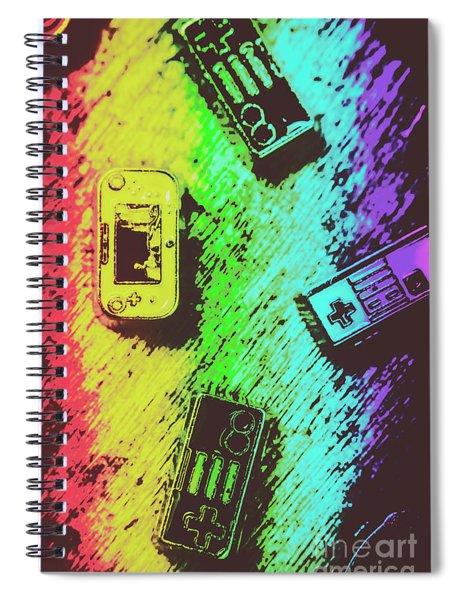 Pop Art Video Games Spiral Notebook