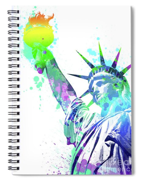 Pop Colorful Liberty Spiral Notebook