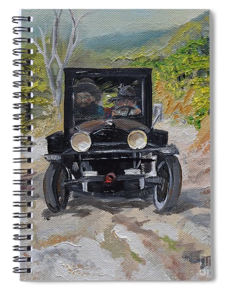 Spiral Notebook featuring the painting Popcorn Sutton - Looking For Likker by Jan Dappen