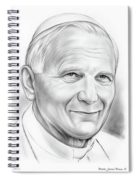 Pope Saint John Paul II Spiral Notebook