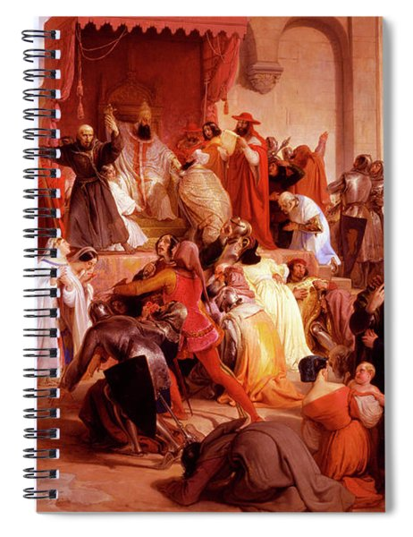Pope Urban II Preaching The First Crusade In The Square Of Clermont Spiral Notebook