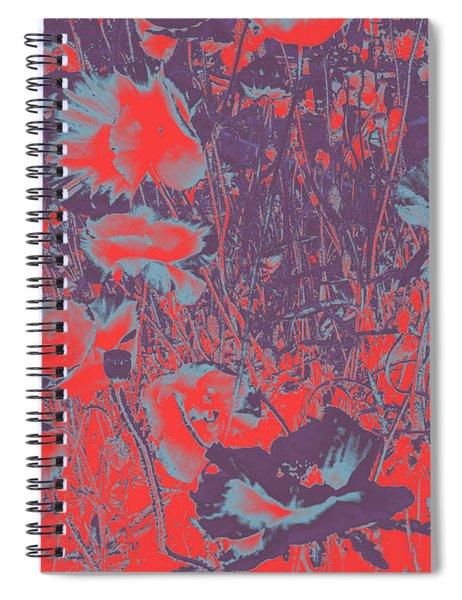 Poppies #4 Spiral Notebook