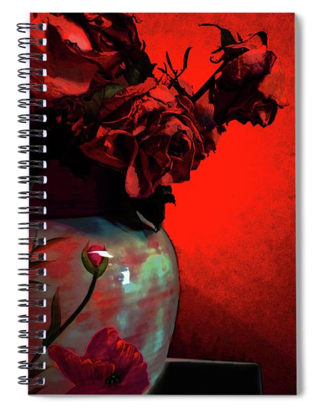 Poppies And Roses Spiral Notebook