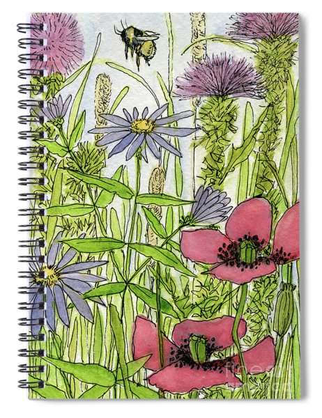 Poppies And Wildflowers Spiral Notebook
