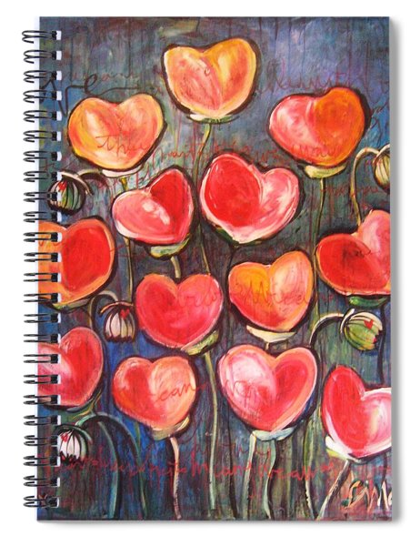 Poppies Are Hearts Of Love We Can Give Away Spiral Notebook