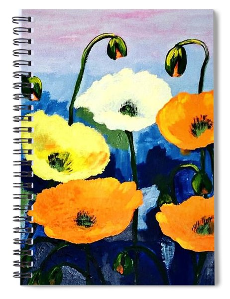 Poppies In Colour Spiral Notebook