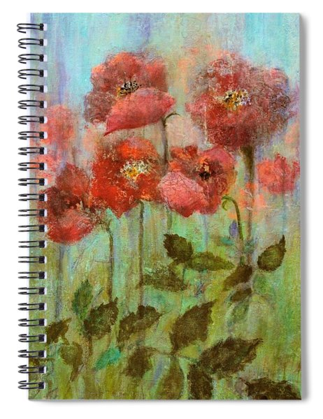 Poppies In Pastel Watercolour Spiral Notebook