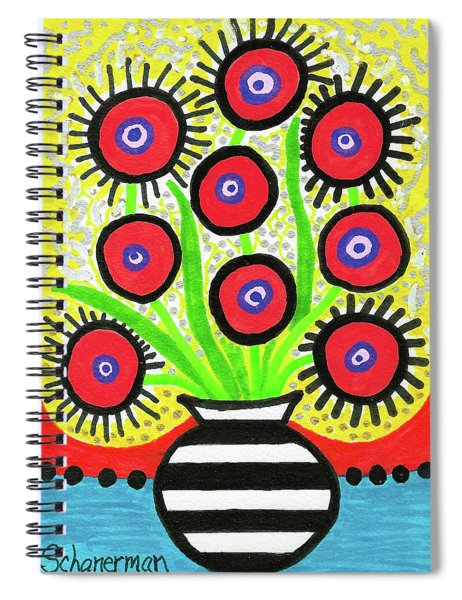 Poppin' Red Poppies Spiral Notebook