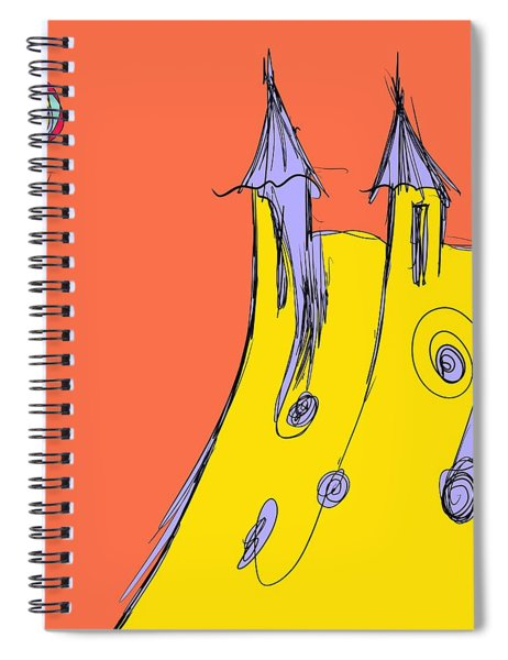 Popping In For A Visit Spiral Notebook