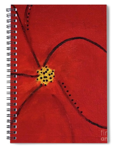 Poppy Dots Spiral Notebook