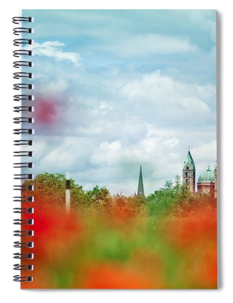 Poppy Field And Speyer Cathedral Spiral Notebook