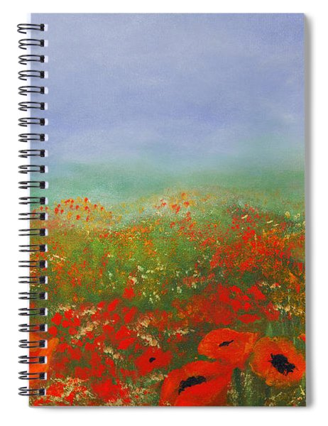 Poppy Field Impressions Spiral Notebook