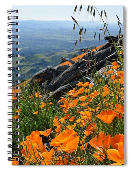 Poppy Mountain  Spiral Notebook