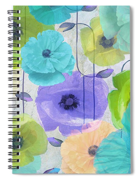Poppy Shimmer Iv Spiral Notebook