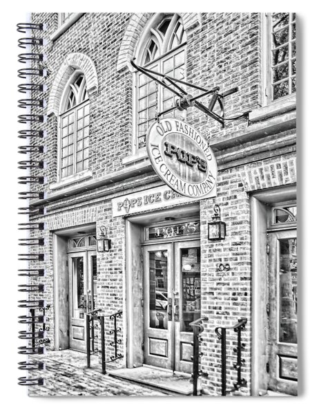 Pops Ice Cream Shoppe Spiral Notebook