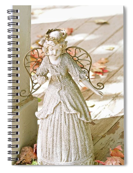 Porch Angel In The Fall Spiral Notebook