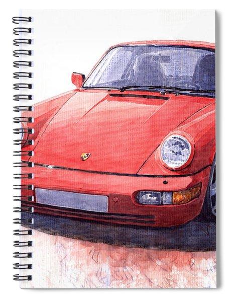 Porsche 911 Carrera 2 1990 Spiral Notebook