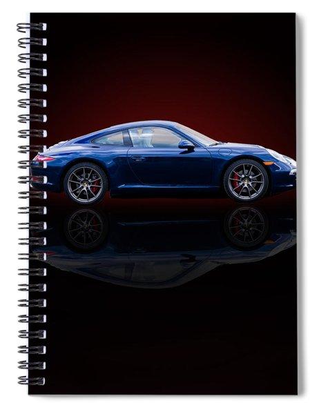 Porsche 911 Carrera - Blue Spiral Notebook