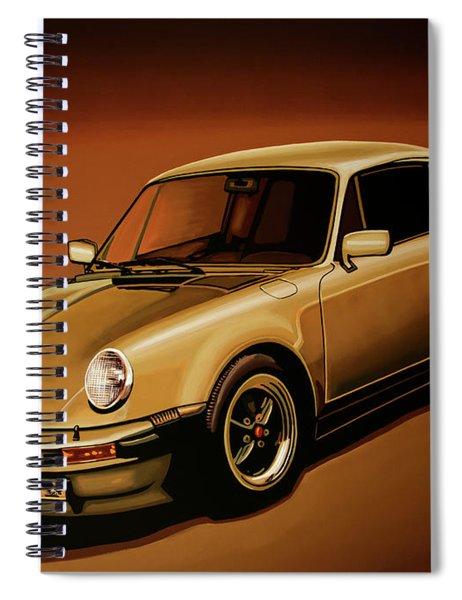 Porsche 911 Turbo 1976 Painting Spiral Notebook