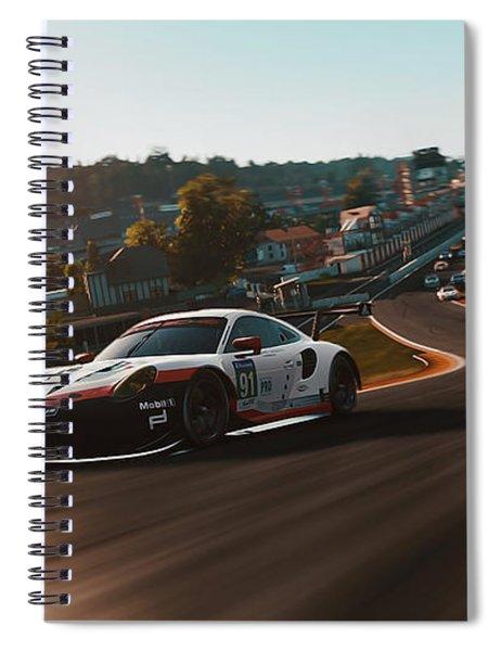 Porsche 911 Rsr, Spa-francorchamps - 33 Spiral Notebook