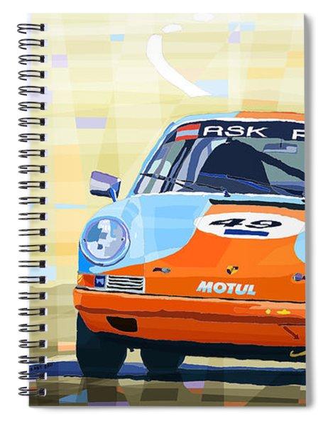 Porsche 911 S  Classic Le Mans 24  Spiral Notebook