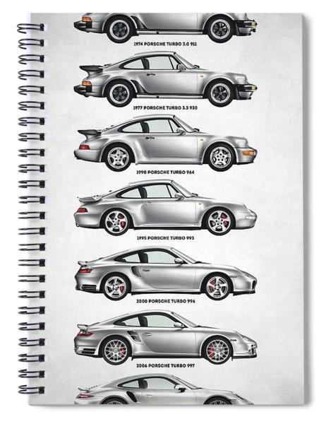 Porsche 911 Turbo Evolution Spiral Notebook