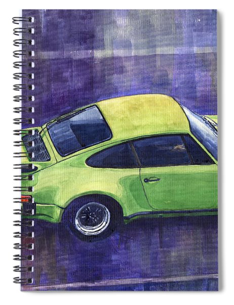 Porsche 911 Turbo Green Spiral Notebook