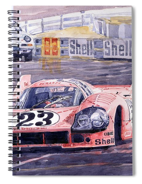 Porsche 917-20 Pink Pig Le Mans 1971 Joest Reinhold Spiral Notebook