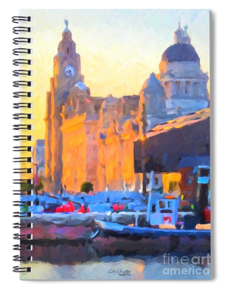 Port Of Liverpool, England Spiral Notebook