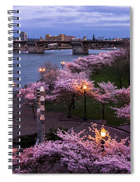 Portland Cherry Blossoms Spiral Notebook