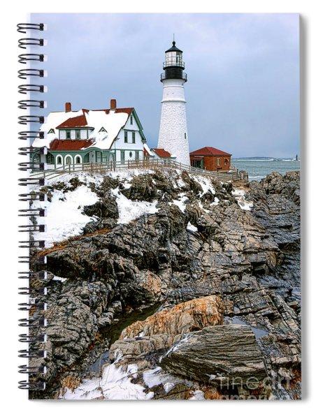 Portland Head Light In Winter Spiral Notebook