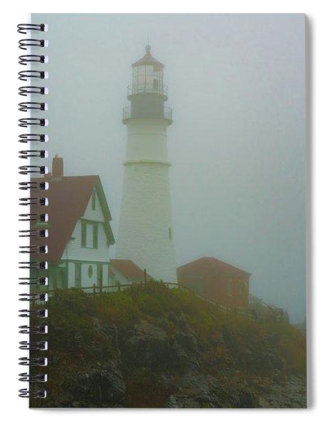 Portland Head Lighthouse In Mist Spiral Notebook