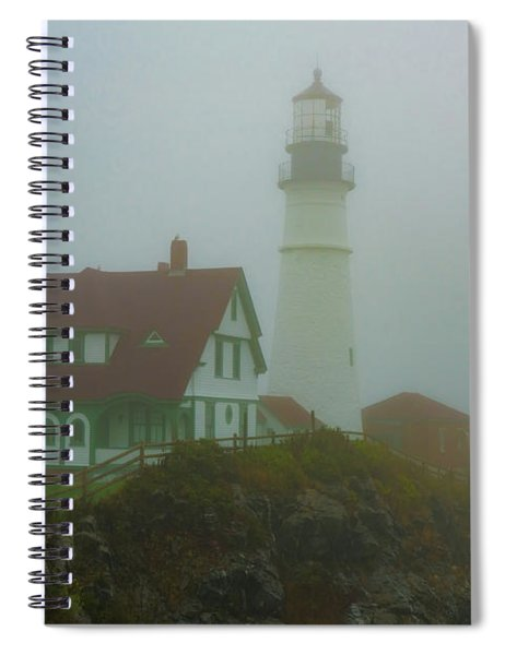 Portland Head Lighthouse In Mist Spiral Notebook
