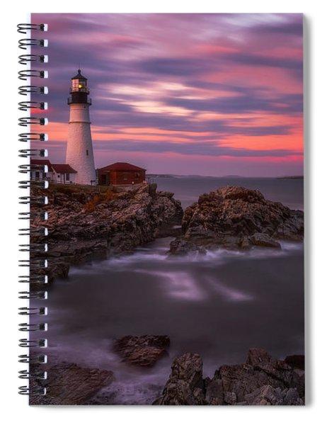 Portland Head Sunset Spiral Notebook