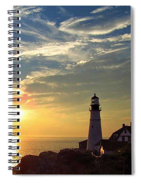 Portland Headlight Sunbeam Spiral Notebook