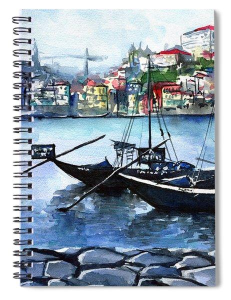 Porto Rabelo Boats Spiral Notebook