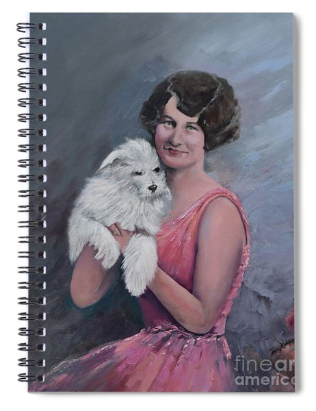 Maggie And Caruso -portrait Of A Flapper Girl Spiral Notebook