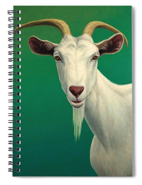 Spiral Notebook featuring the painting Portrait Of A Goat by James W Johnson