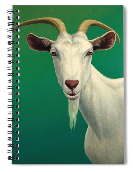 Portrait Of A Goat Spiral Notebook by James W Johnson