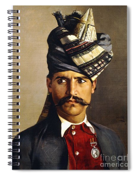 Portrait Of A Khattack In Military Headdress Spiral Notebook