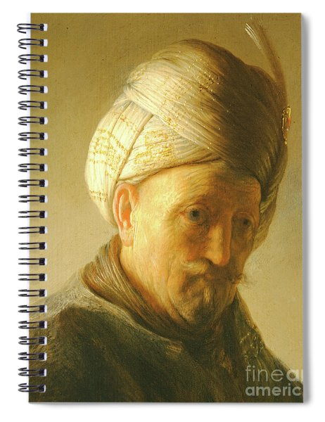 Portrait Of A Man In A Turban Spiral Notebook