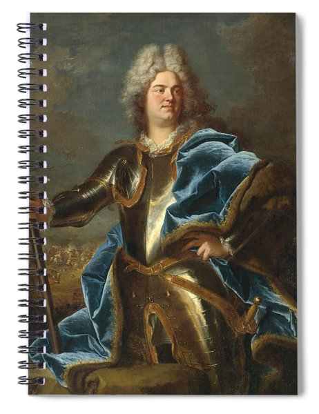 Portrait Of A Man Traditionally Called Claude Louis Hector Duc De Villars Spiral Notebook