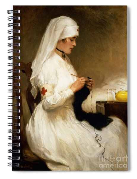 Portrait Of A Nurse From The Red Cross Spiral Notebook