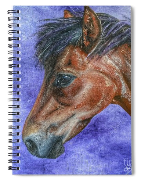 Portrait Of A Pony Spiral Notebook