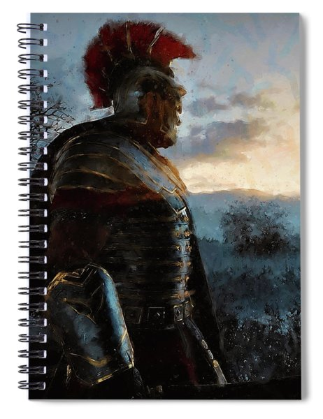 Portrait Of A Roman Legionary - 34 Spiral Notebook