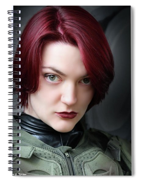Portrait Of A Starship Trooper Spiral Notebook