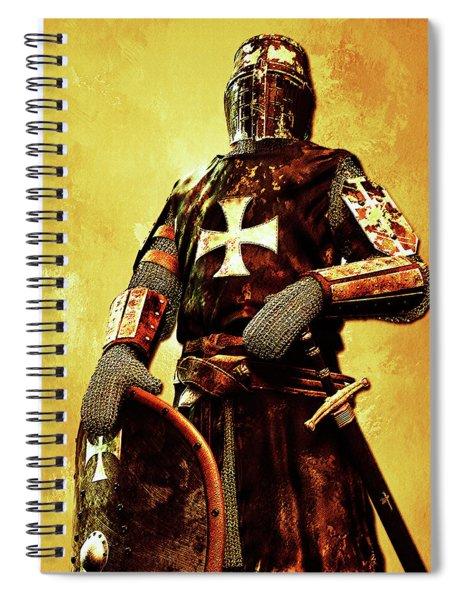 Portrait Of A Templar Knight Spiral Notebook