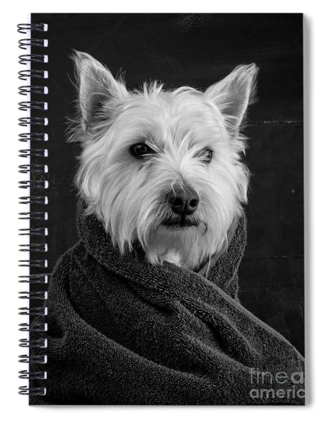 Portrait Of A Westie Dog Spiral Notebook